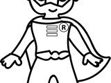 Waiting Cartoon Superheroes Superman Kid Coloring Page