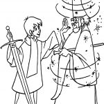 Wart Merlin Magic Coloring Page