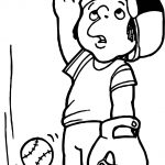 Where Is The Ball Child Playing Baseball Coloring Page