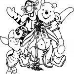Winnie The Pooh All Friends Coloring Page