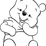 Winnie The Pooh Baby Coloring Page