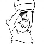 Winnie The Pooh Find Hunny Coloring Page