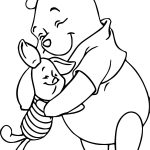 Winnie The Pooh Friends Hug Coloring Page