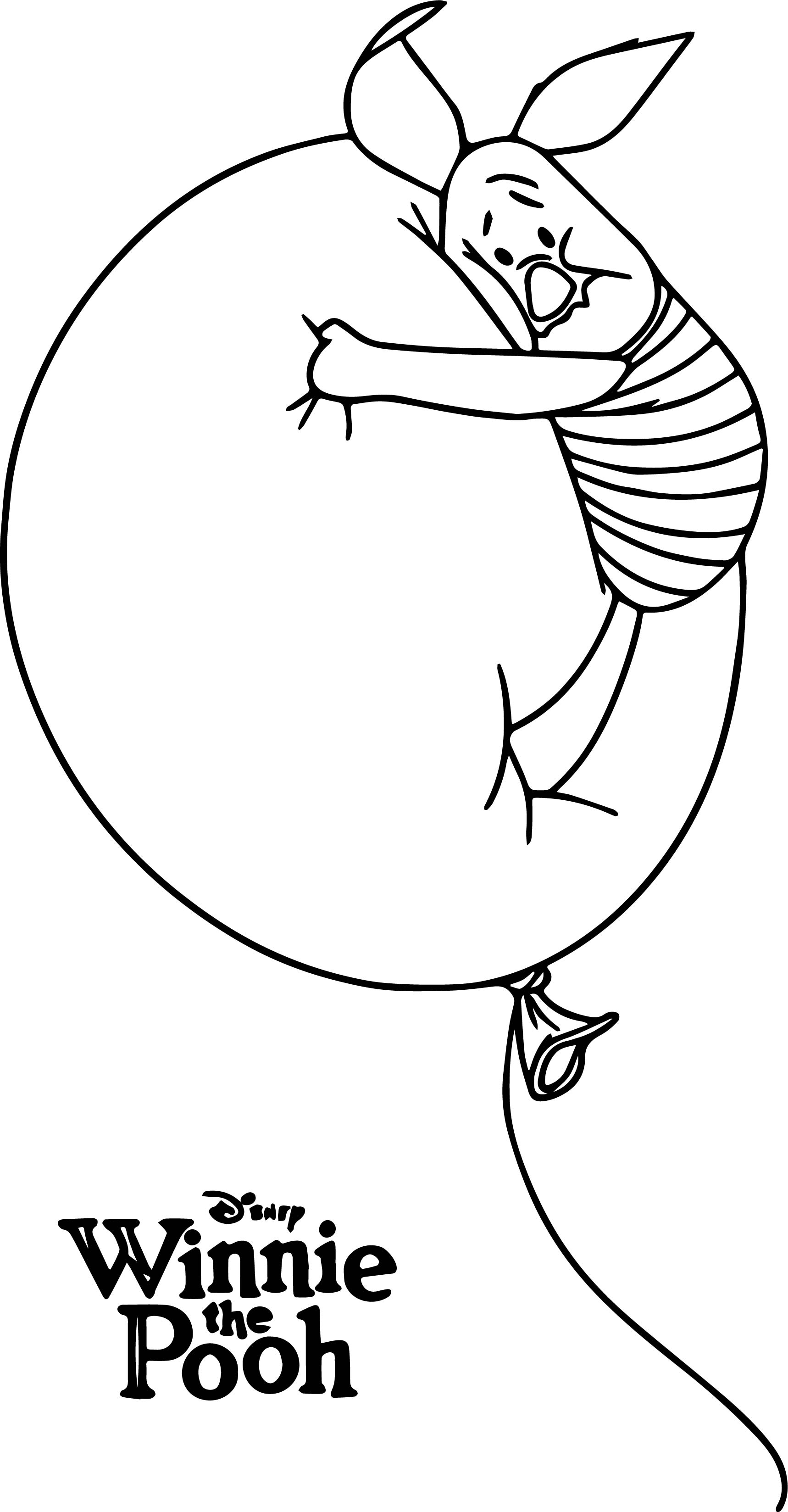 Winnie the pooh poster piglet coloring page for Piglet coloring pages