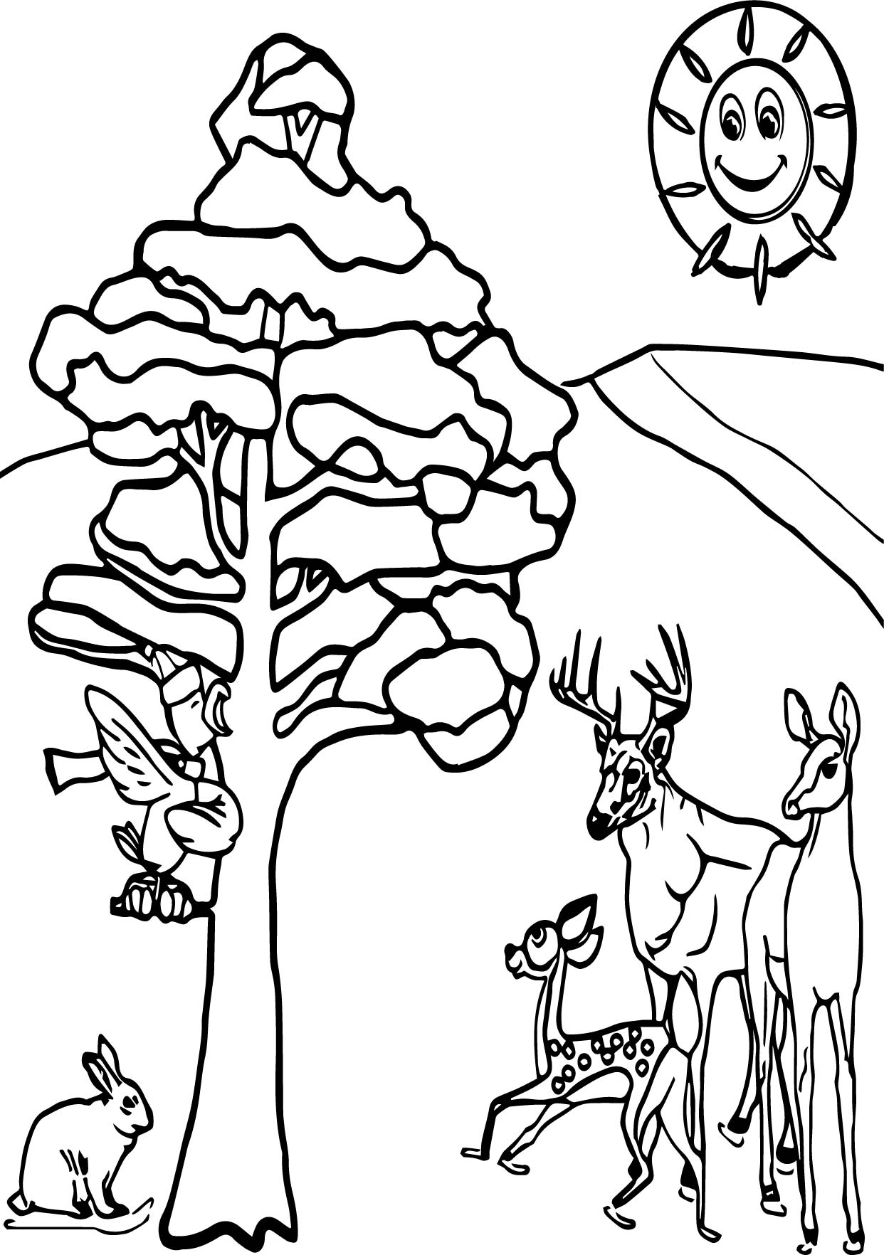 animals in winter coloring pages 28 images animals in winter