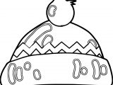 Winter Cartoon Hat Coloring Page
