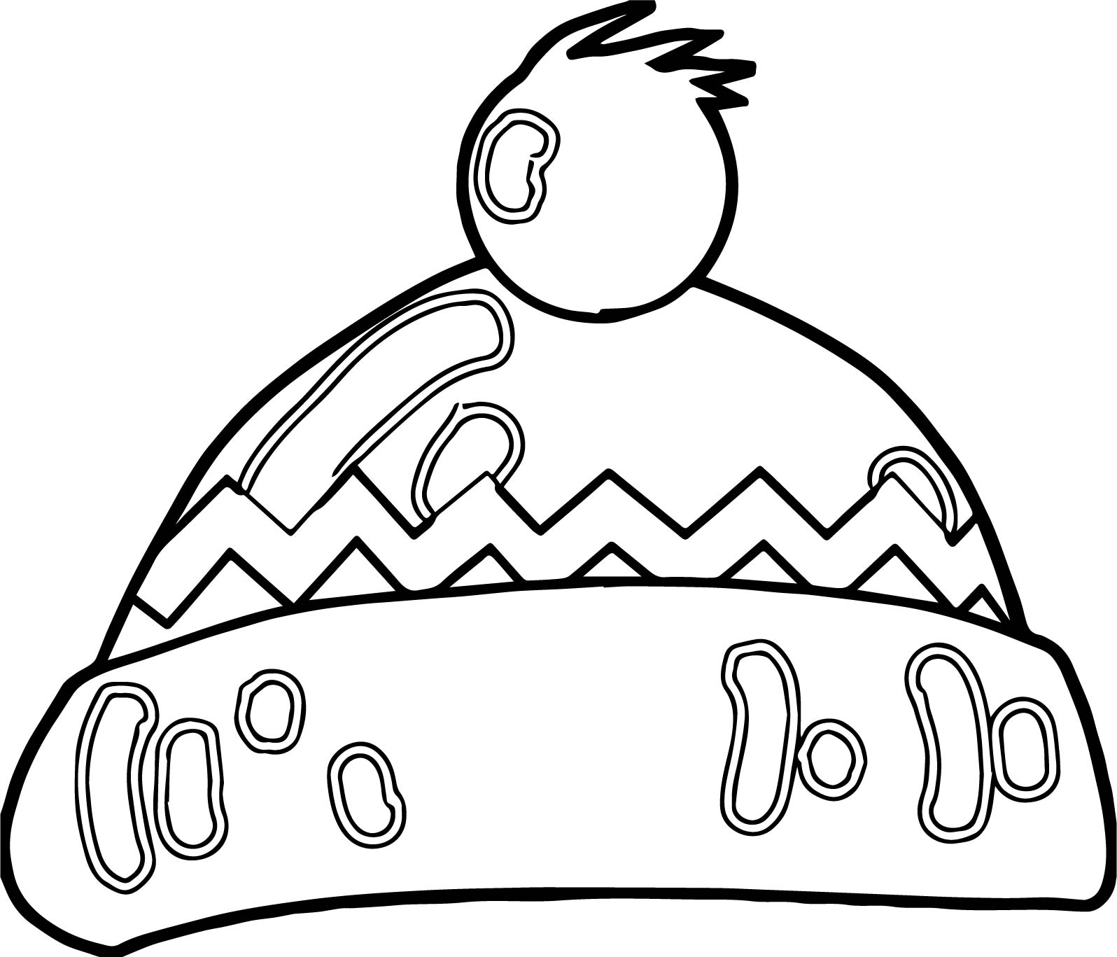 Winter Hat Coloring Page Coloring Pages