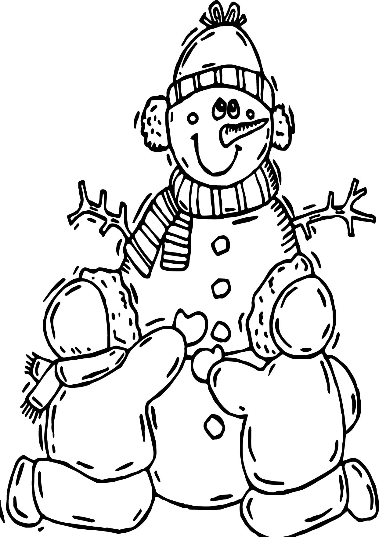 Winter child making snowman coloring page for Make coloring book pages from photos