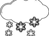 Winter Cloud And Snow Coloring Page