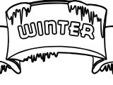 Winter Cold Sign Coloring Page