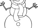 Winter Cute Snowman Coloring Page