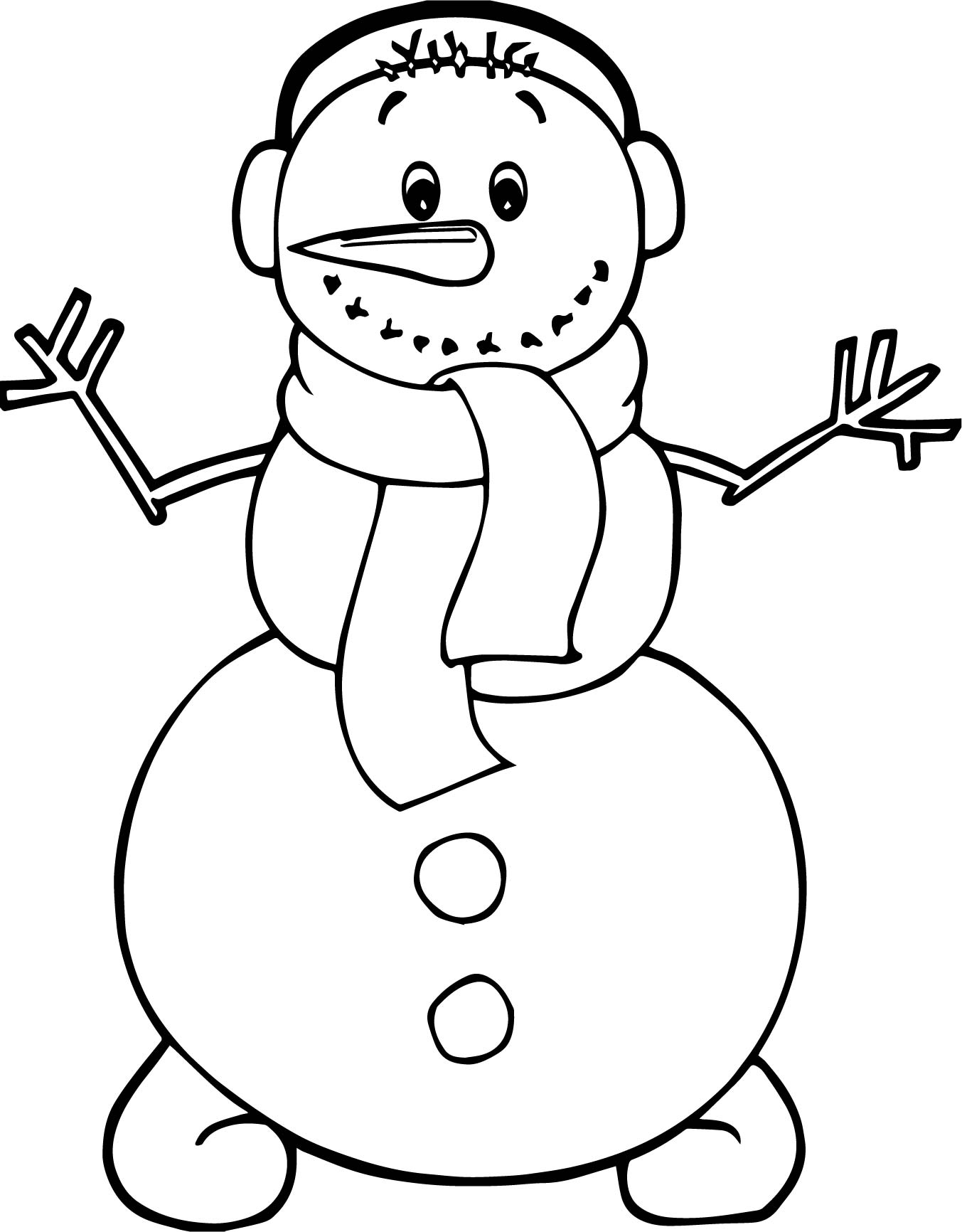 cute winter coloring pages - photo#26