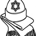 Winter Hat And Weft Coloring Page