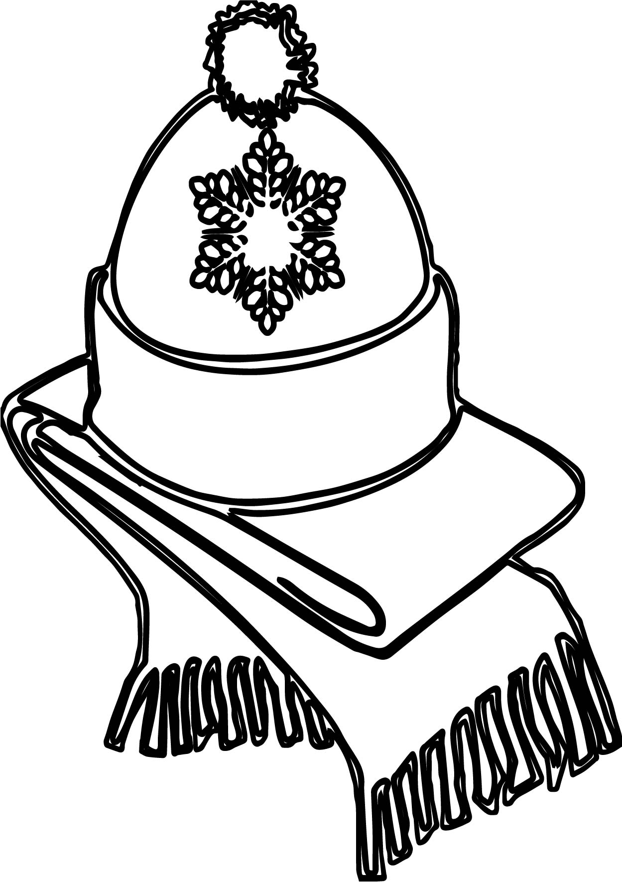 Winter Hat And Weft Coloring Page Wecoloringpage