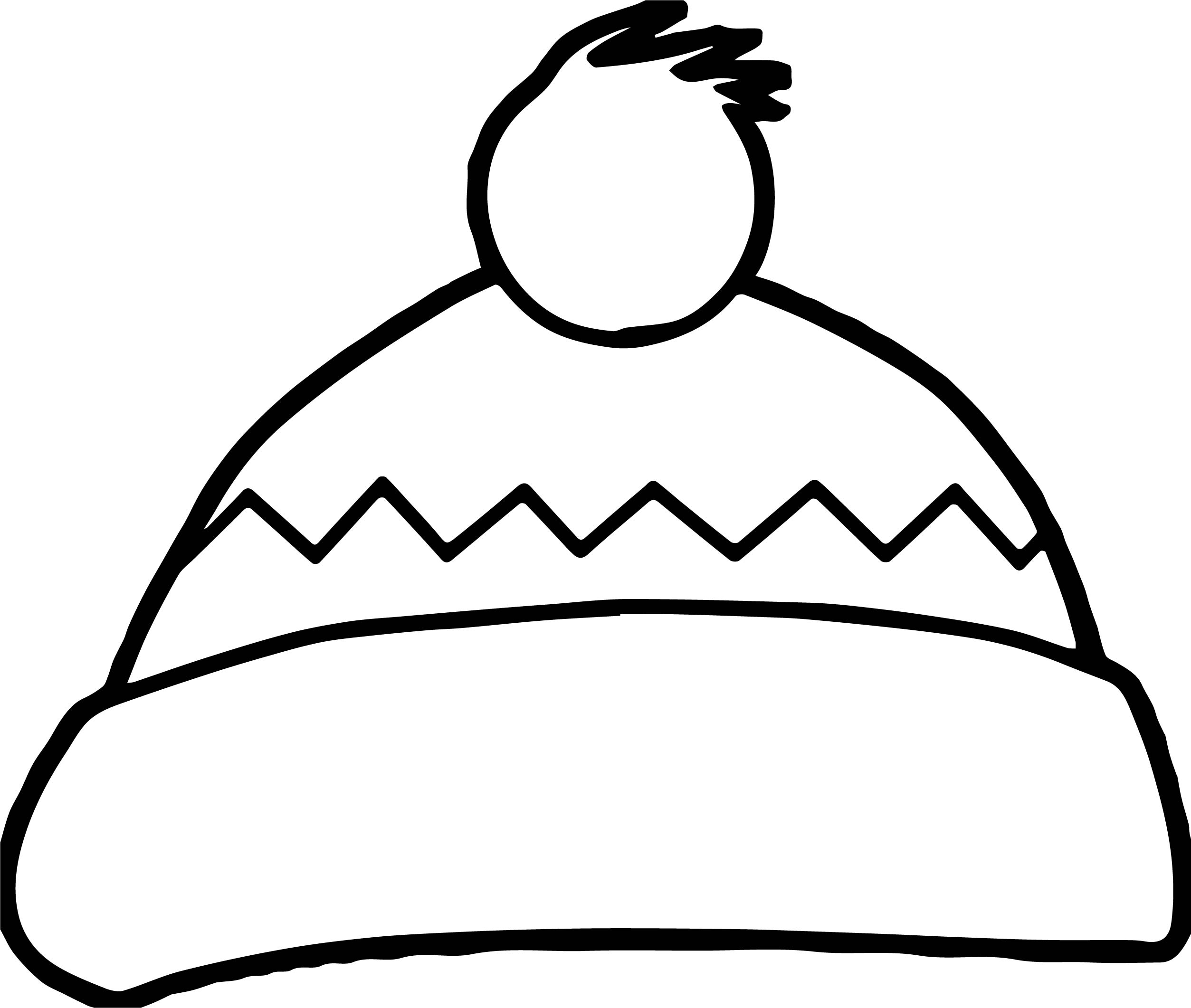 winter hat coloring pages