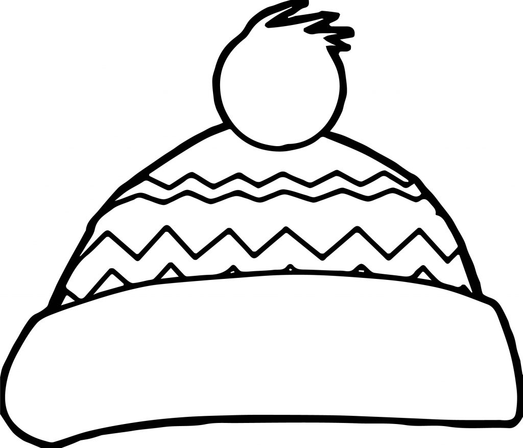 Winter Snow Hat Coloring Page Wecoloringpage Com