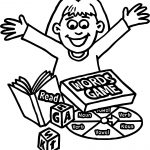 Words Board Game Girl Coloring Page