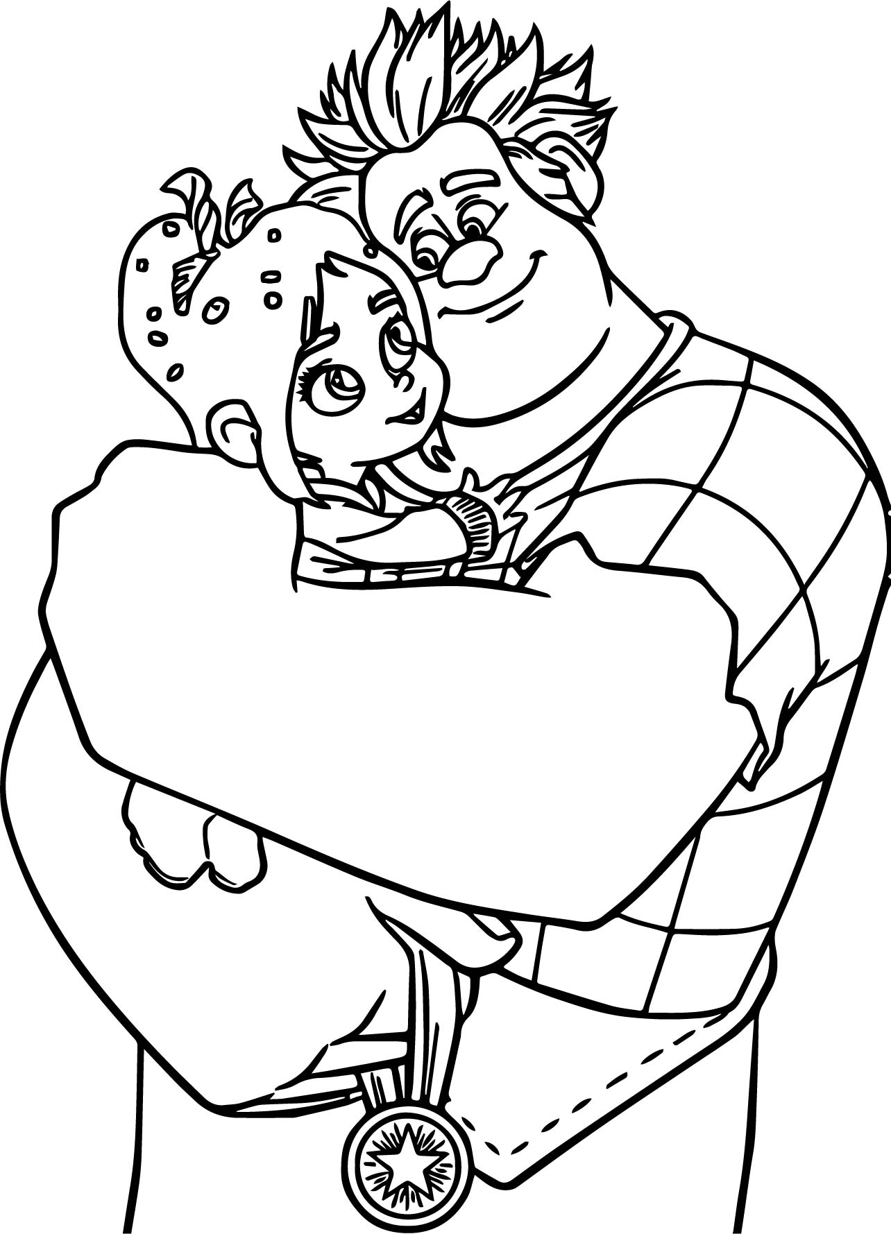 Wreck It Ralph Adventures Hug Coloring Page