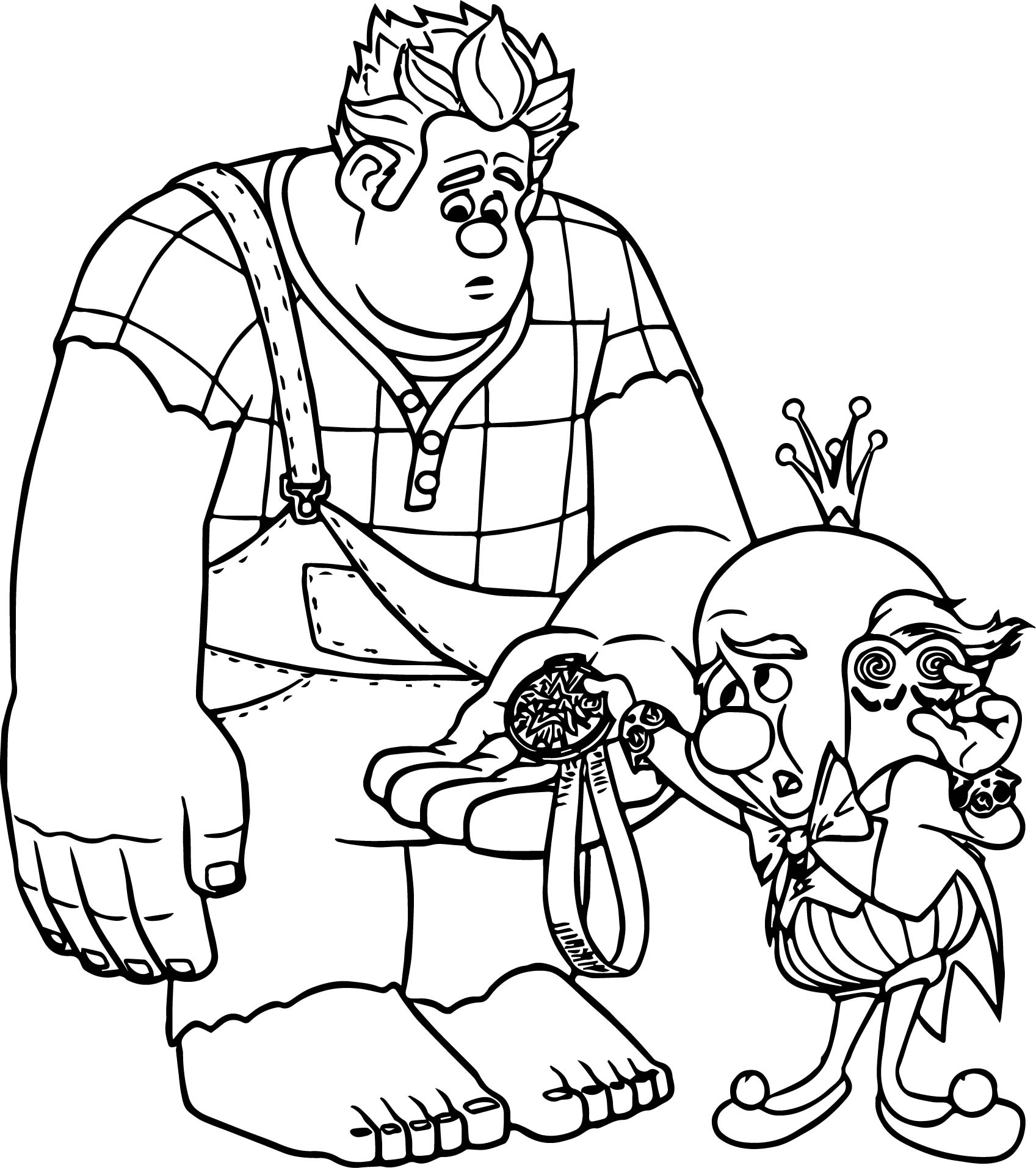 Wreck It Ralph And King Coloring Page