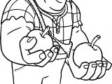 Wreck It Ralph Apple Coloring Page
