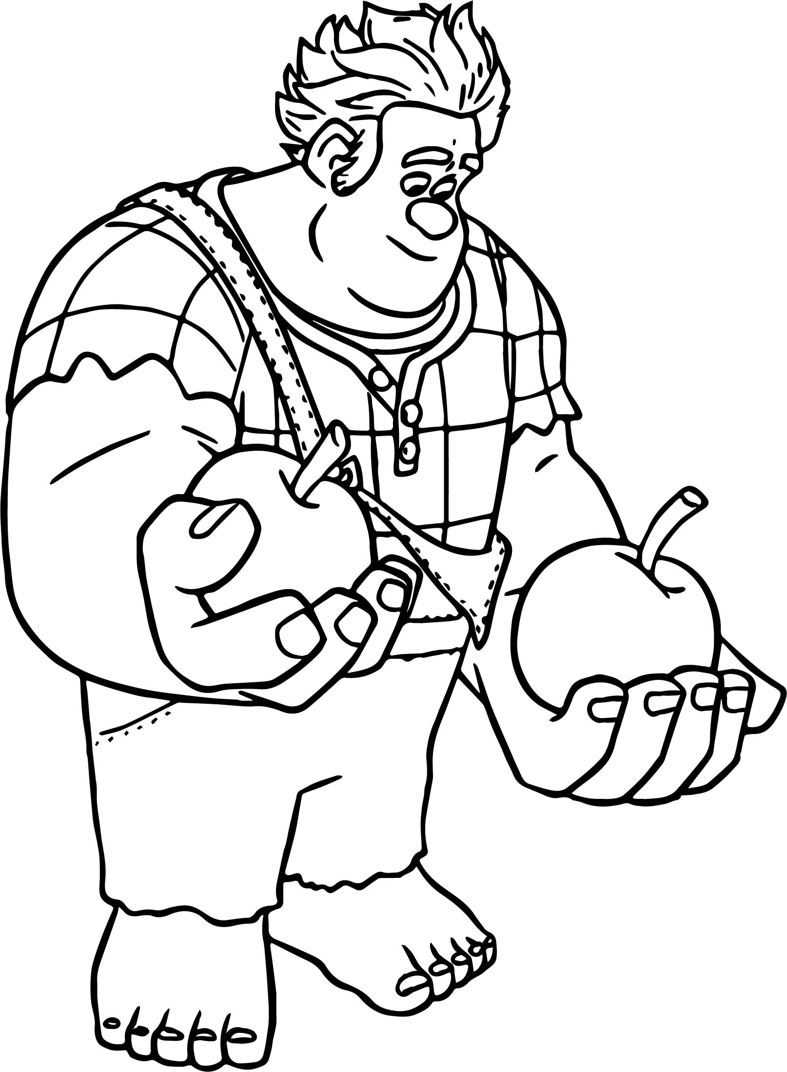 wreck it ralph apple coloring page wecoloringpage