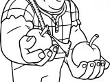Wreck It Ralph Cherries Apple Coloring Page