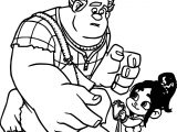 Wreck It Ralph My Hearth Coloring Page