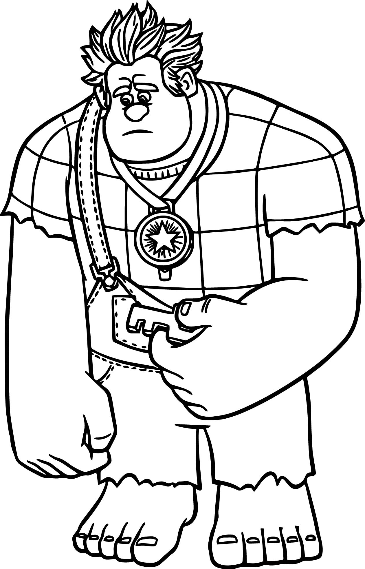 Wreckit Ralph Free Coloring Pages