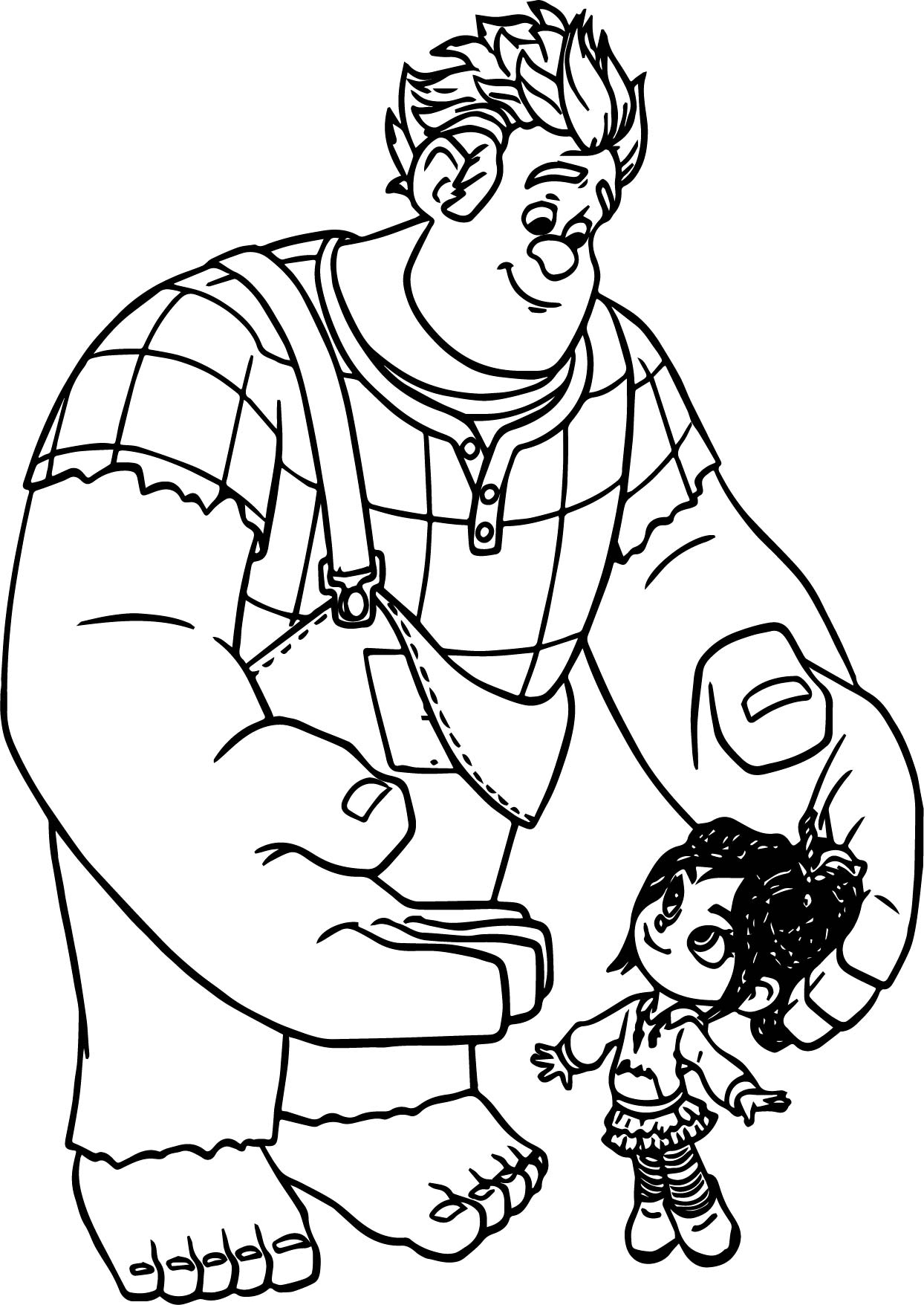 Wreck It Ralph Taffyta Cute Coloring Page