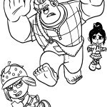 Wreck It Ralph Taffyta Run Coloring Page