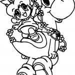 Yoshi And Baby Daisy Coloring Page