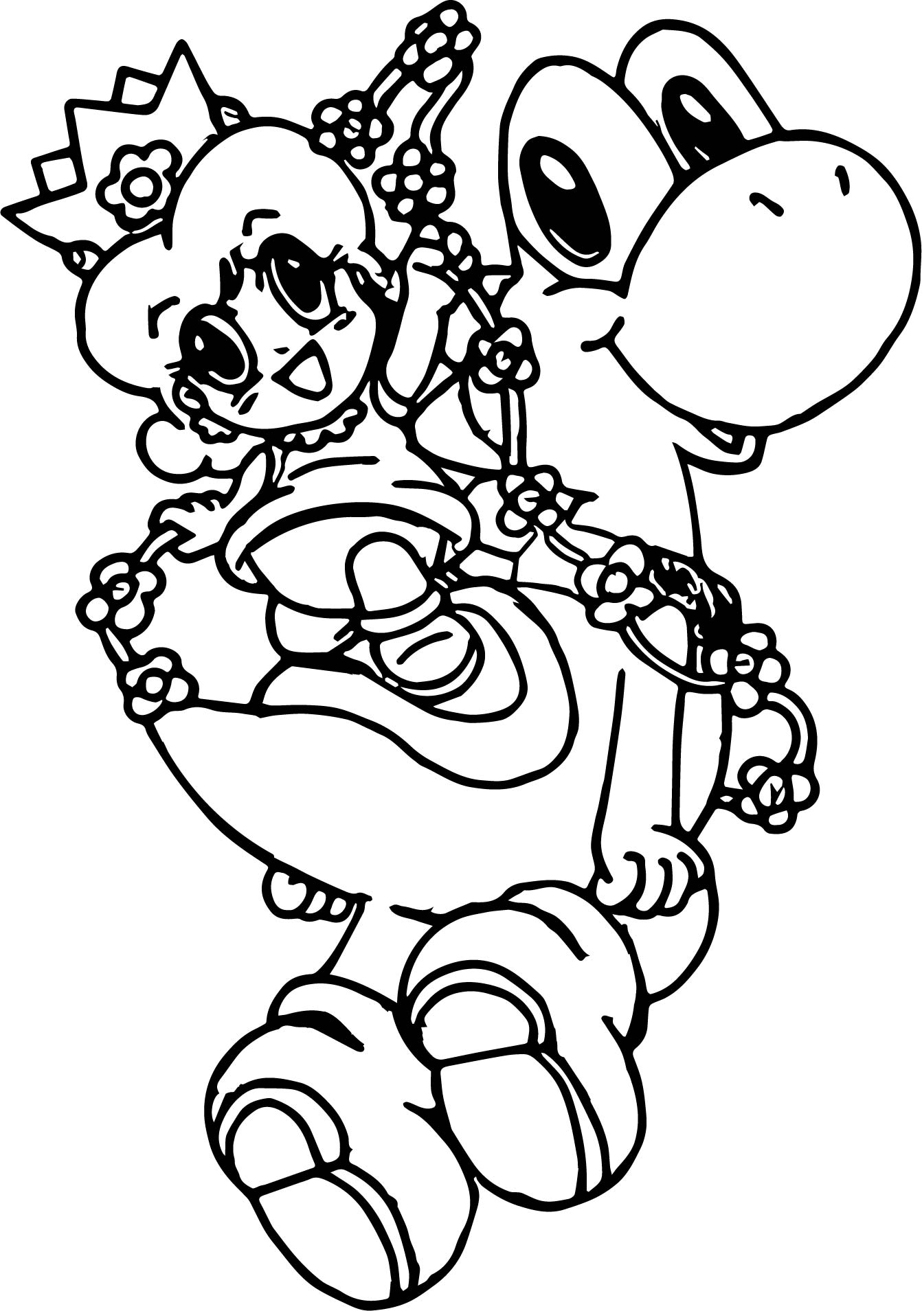 Pin Gallery Baby Yoshi Coloring Pictures On Pinterest