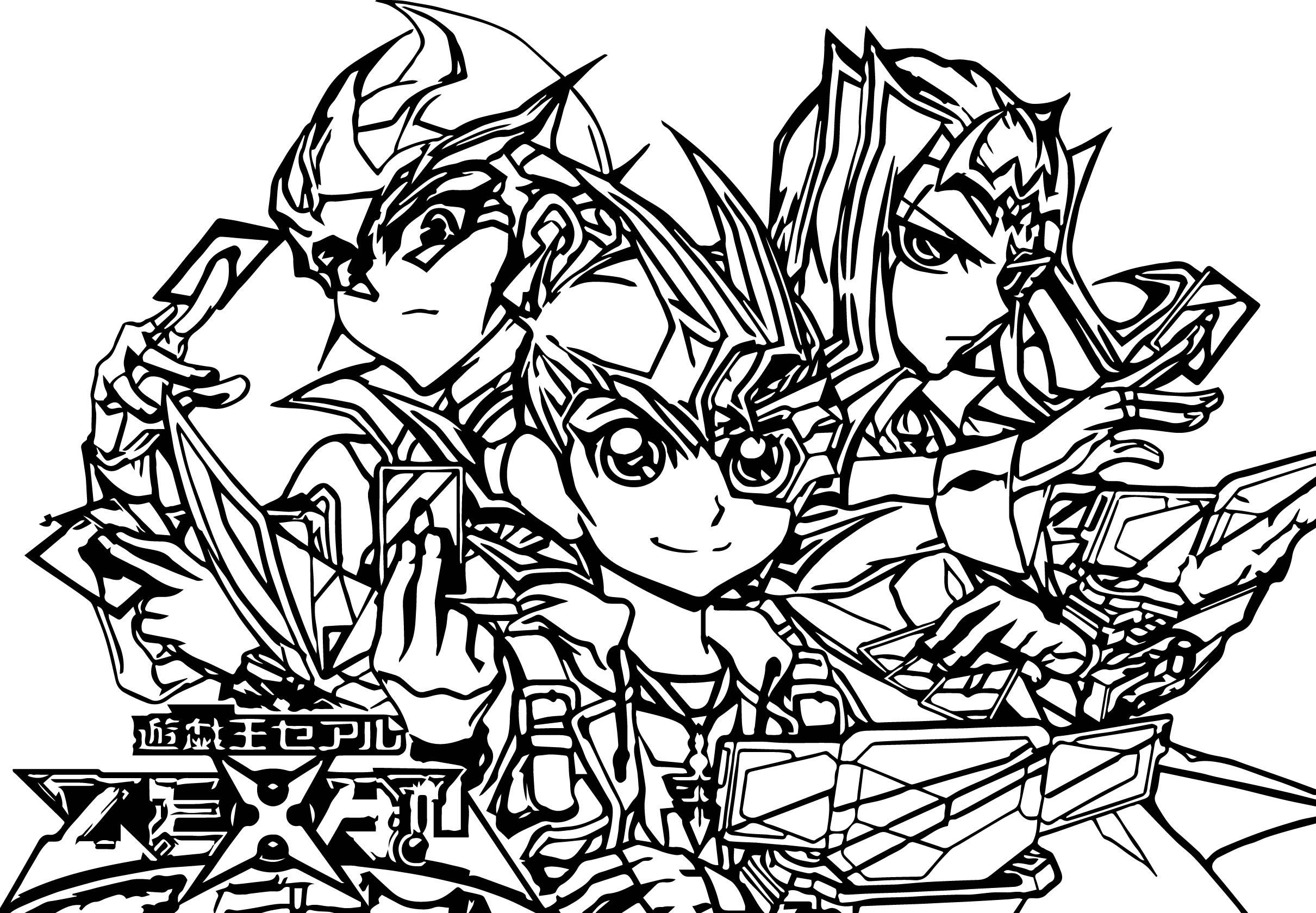 Yu Gi Oh Card War Coloring Page