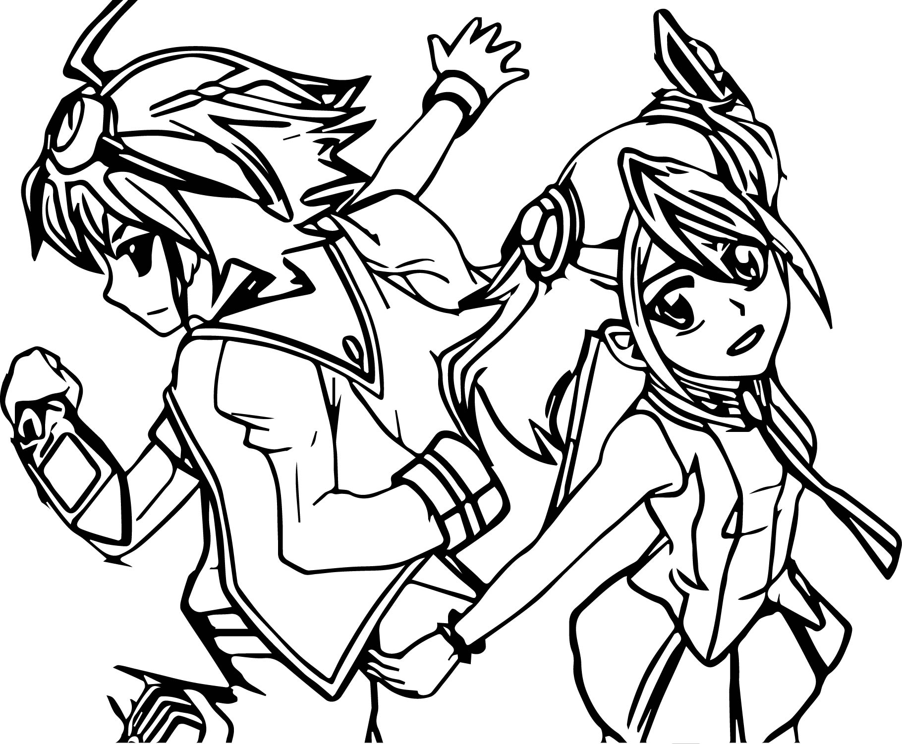 Yu Gi Oh Dance Coloring Page