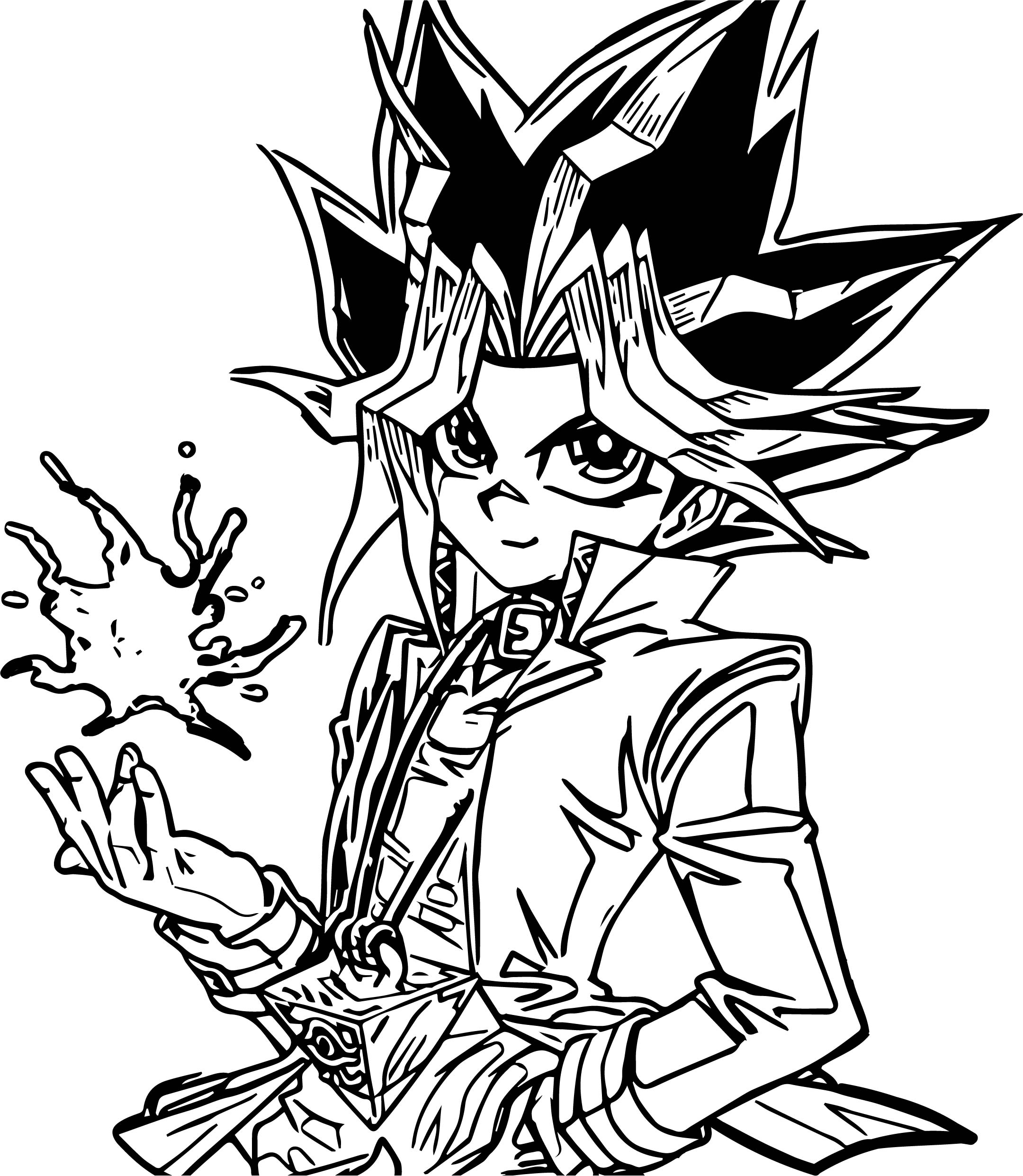 Coloring pages yugioh