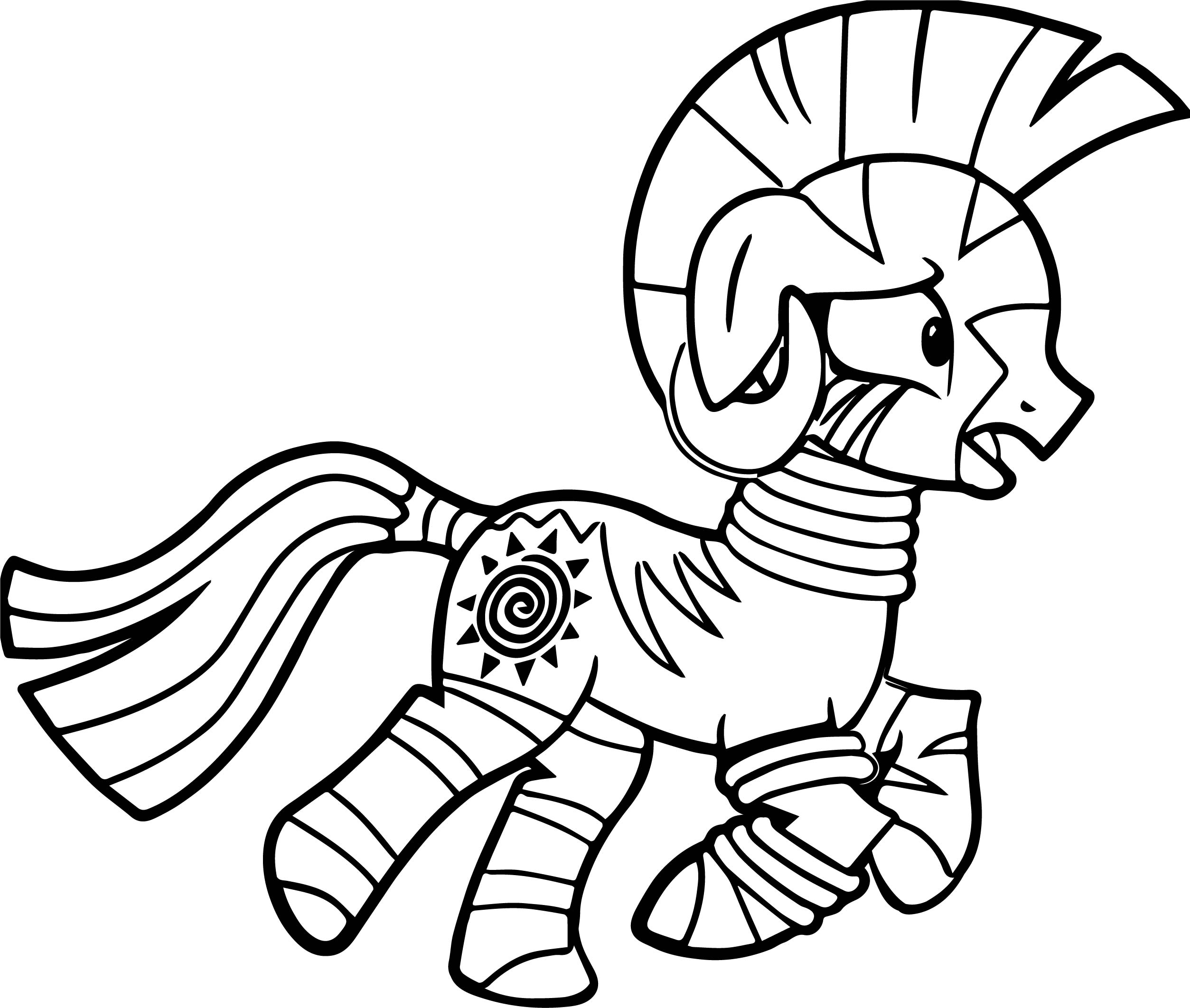 Zecora Flees Coloring Page