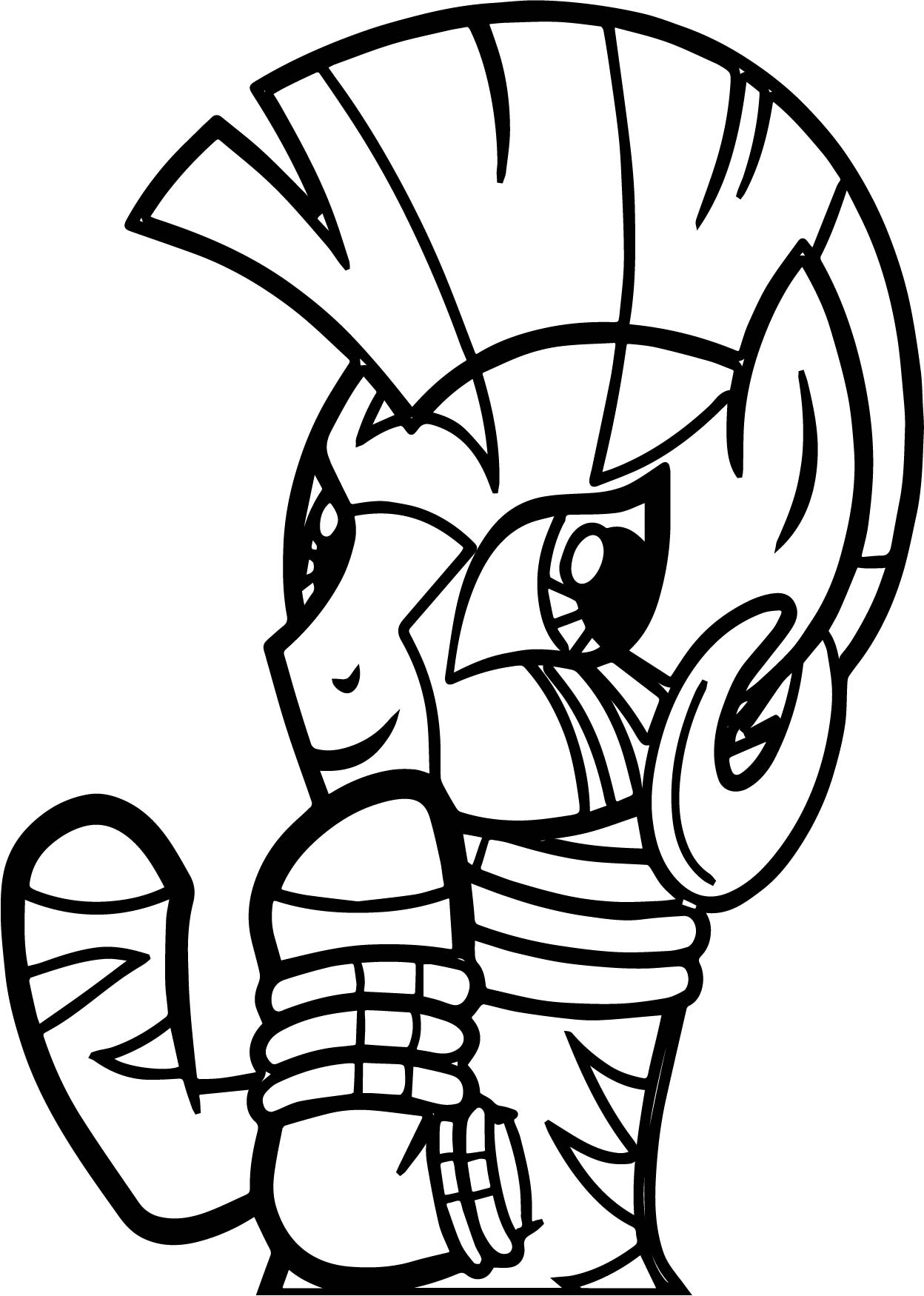Zecora Photo Take Coloring Page