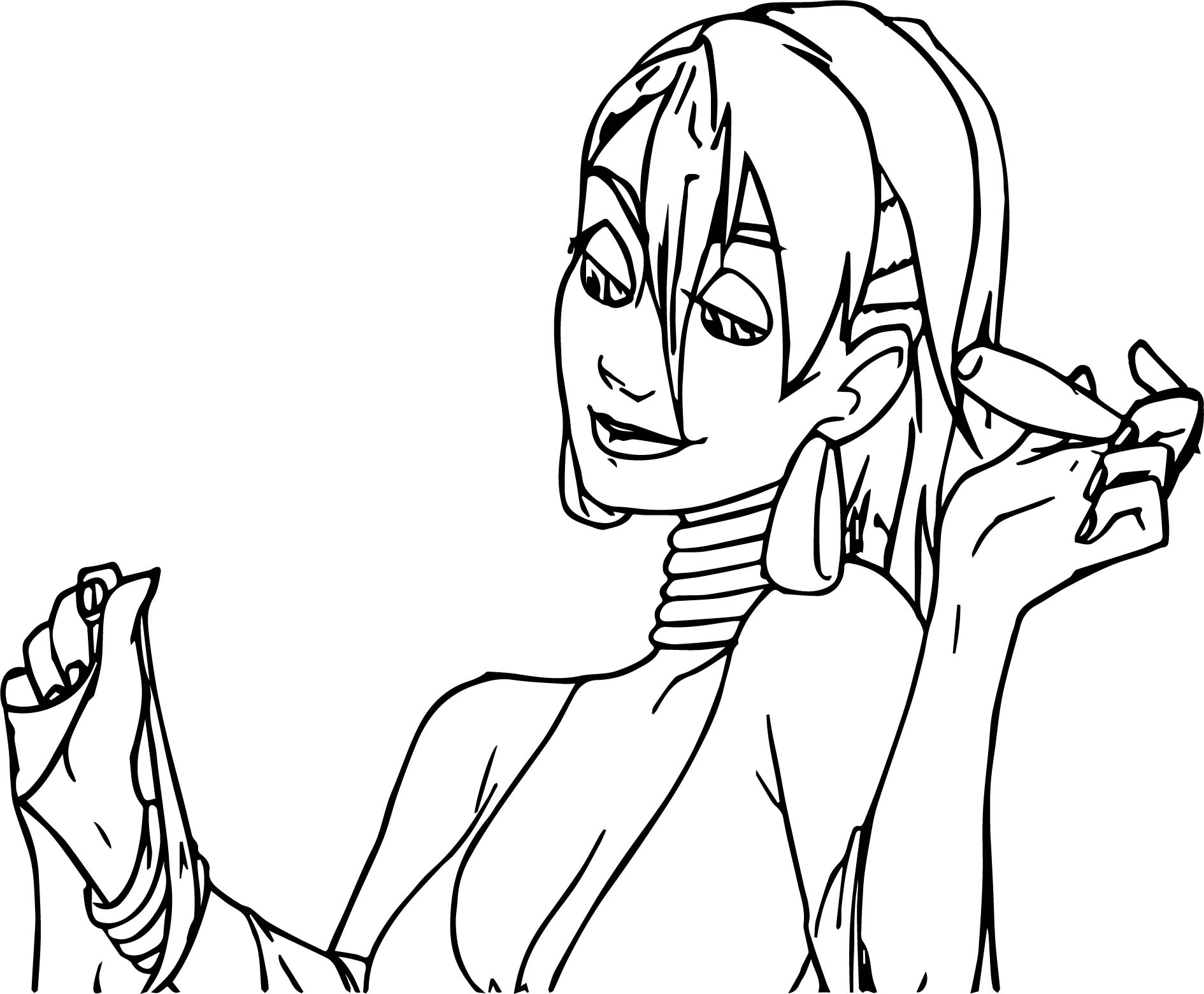 zecora woman make up coloring page wecoloringpage