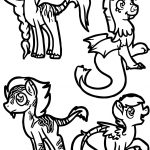 Zecora X Discord Points Each Queen Coloring Page