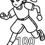 100 Th Days Sports Boy Day Free Coloring Page