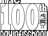 100th Day Whole Word Coloring Page