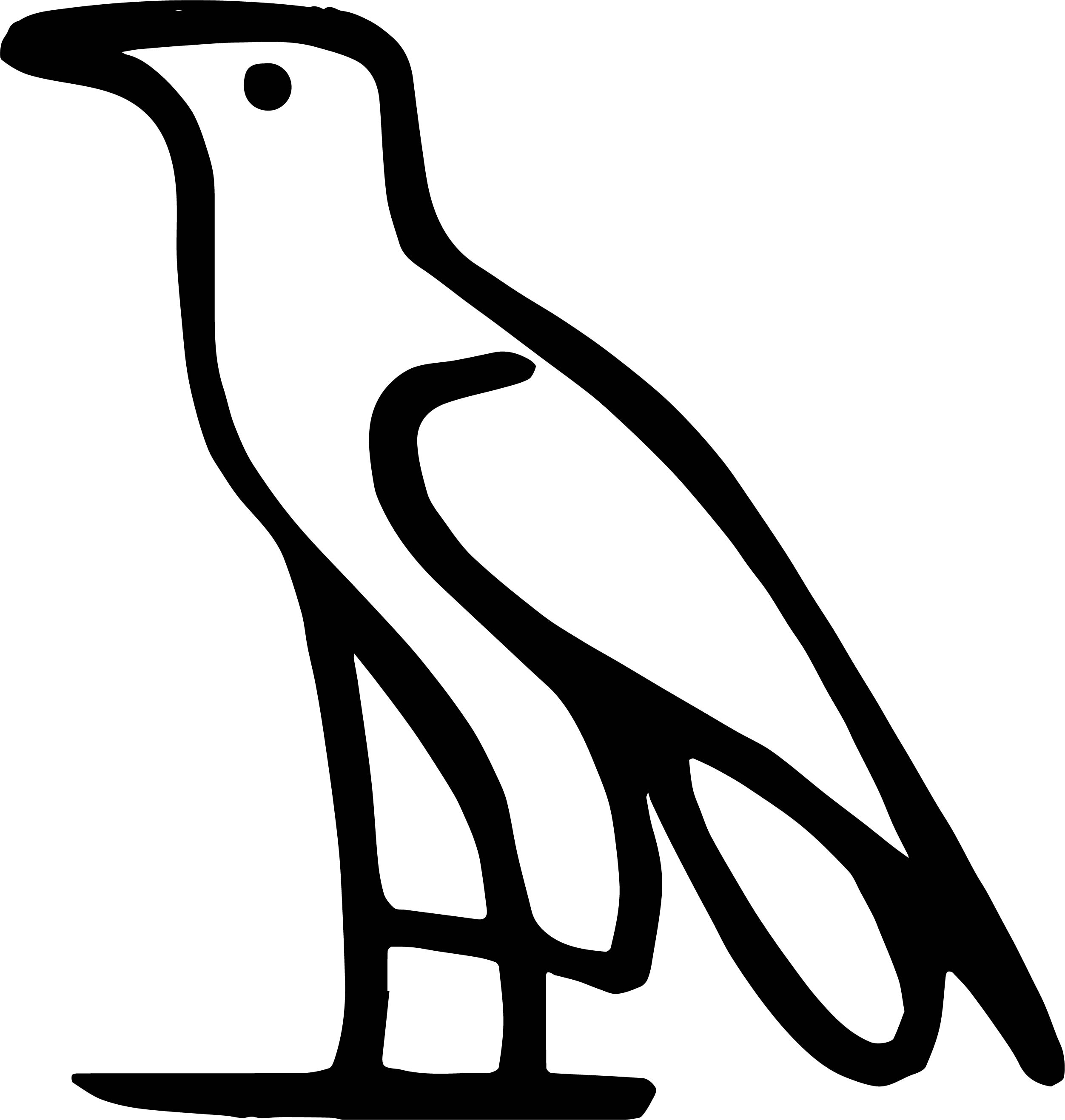 A As In Water Bird Coloring Page