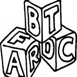 A B C Box Cube Coloring Page