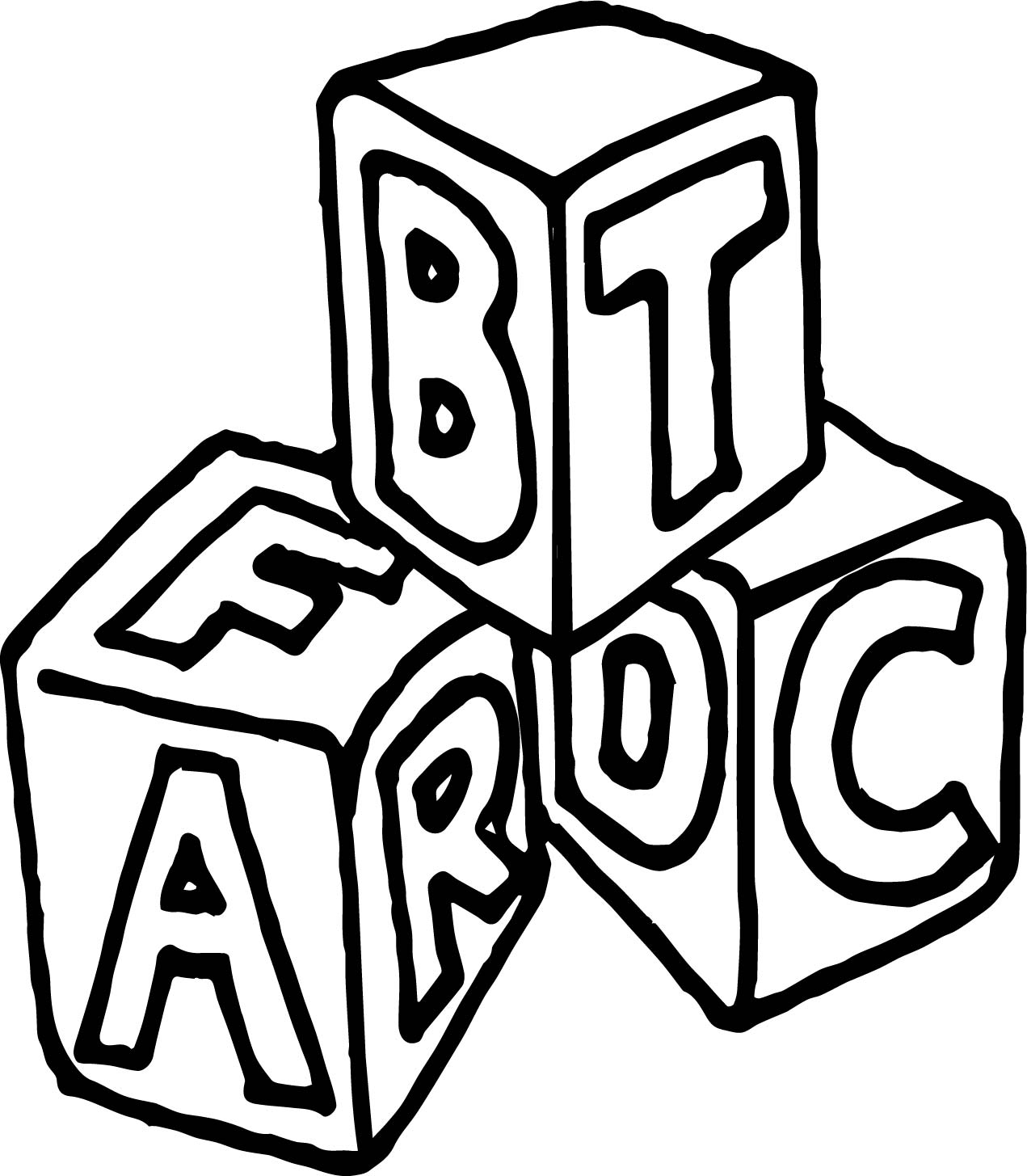 a b c box cube coloring page wecoloringpage
