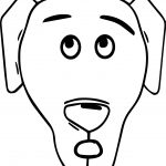 A Dog Face Coloring Page