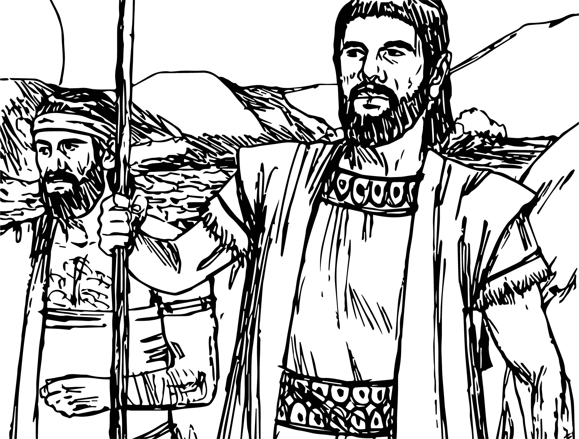 Abraham And Sarah Brother Coloring Page
