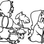 Abraham And Sarah Sheep Coloring Page