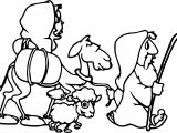 Abraham And Sarah Sheep Coloring Page