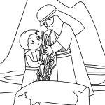 Abraham And Sarah Wood Coloring Page