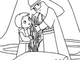 Abraham And Sarah Wood Coloring Page